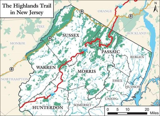 The Highlands Trail in northwest New Jersey will receive a dedicated map, new signage and additional blazes by 2021 after the Highlands Council and New York-New Jersey Trail Conference came to terms on a deal in July 2019.
