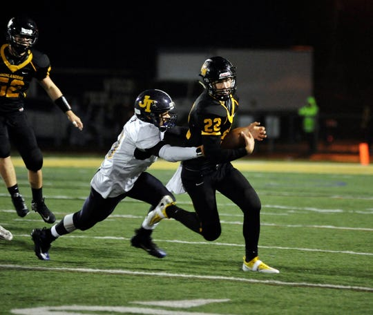 West Milford needs to replace a talented senior class that was led by All-Passaic quarterback Zach Milko (#22).