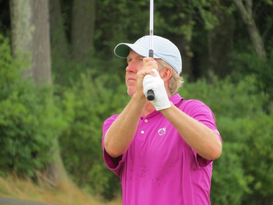 Mike Muehr also is tied for second following the second round of the 99th New Jersey Open Golf Championship at Trump National Golf Club in Bedminster on Tuesday, July 23, 2019.