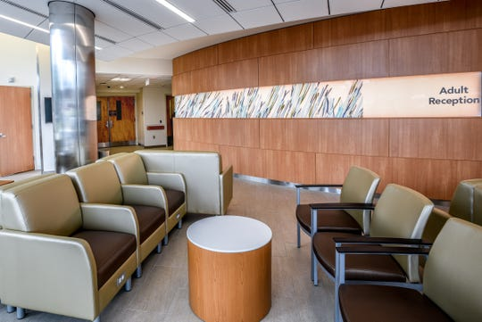 The newly renovated emergency room at Clara Maass Medical Center in Belleville on Tuesday July 23, 2019. The new emergency room has a separate waiting area for for adults.