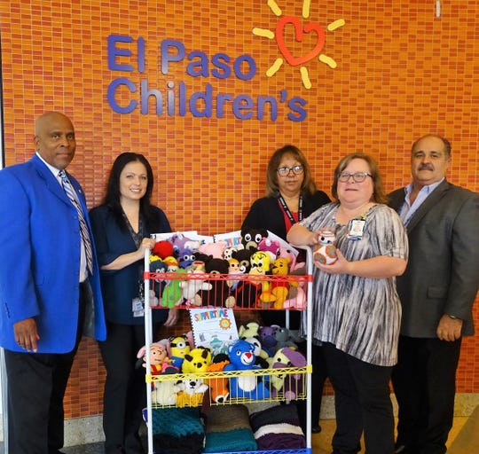 Otero County Prison Facility donate 50 crochet blankets, 50 stuffed animals and 50 coloring books to the El Paso Children's Hospital on July 17.