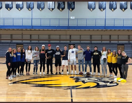 20 South Lyon High School seniors will be playing college sports this fall.