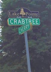 Leafy, mature trees dominate the landscape of Lake Pointe subdivision.