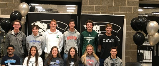 South Lyon East is sending 17 seniors to play sports in college.