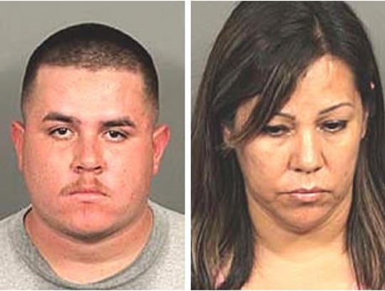 Ruben Mercado Alvarez, 22, and MaricelaAlvarez-Limon , 42, both of Indio, are accused of several charges. She is accused of break-ins and grand theft, and selling the items to pawn shops and he is accused possession of methamphetamine.