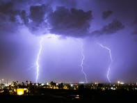 The first monsoon storm brings promise of more