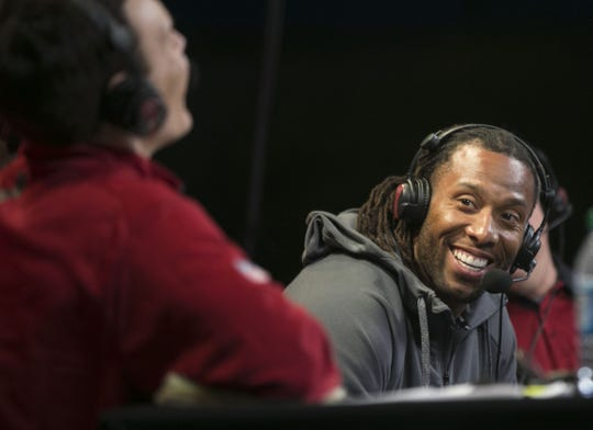 Could a future in broadcasting be in store for Larry Fitzgerald after his NFL playing days are over?
