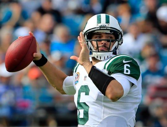 Mark Sánchez vivió sus mejores momentos en la NFL con los Jets, a los que llevó a postemporada.
