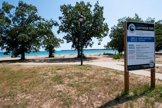 A new report on the health risks found that 120 beach sites tested in Michigan were found to have unsafe levels of fecal bacteria at least one day in 2018. Lighthouse Beach was sampled on 17 days, four of which were potentially unsafe.