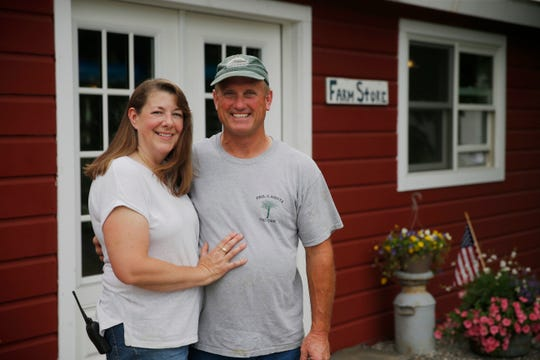 Steven and Jaime Vincent at Brookby Farm's farm store in Dover Plains on July 11, 2019.