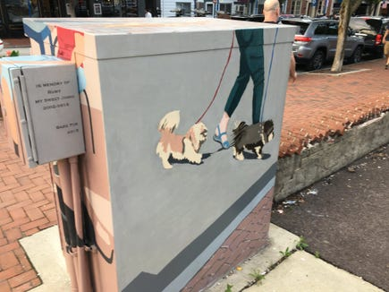 After the artist's brushwork on this utility box in Phoenixville.