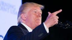 President Donald Trump speaks at Turning Point USA's Teen Student Action Summit 2019, Tuesday, July 23, 2019, in Washington. (AP Photo/Alex Brandon)