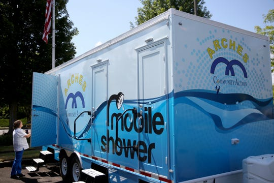 A trailer with three private showers will soon be making its way around the area as a service for people experiencing homelessness. Photographed at the United Way of the Mid-Willamette Valley in Salem on July 23, 2019.