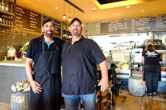 Brothers Vinnie and Artie Ercolino opened Two Meatballs in Long Neck. The Italian deli specializes in meltingly thin-sliced cold cuts, house made meatballs and brick oven pizzas.