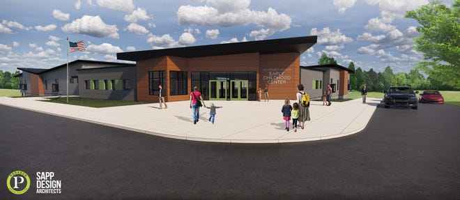 A rendering of the new early childhood center in southwest Springfield.