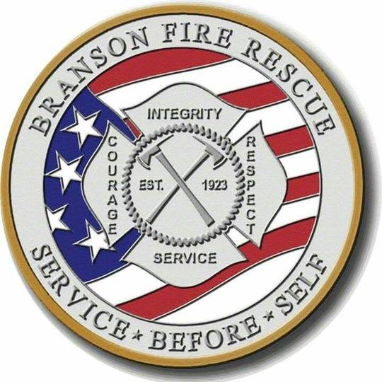 Branson Fire Rescue badge.