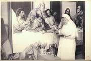 A painting of the Last Supper made by Mary Agnes Mayer, a Sister of Mercy, was finished in 1971. It hung in the cafeteria at Mercy Hospital Springfield but is now in storage during construction of Mercy's Heart Hospital.