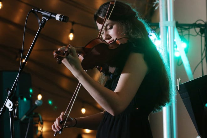 Heifetz Institute's summer student Kitty Amaral plays the violin during the Heifetz Hootenanny concert on Mary Baldwin University's campus on Saturday, July 20, 2019.