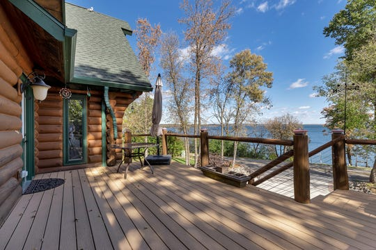 The home features an expansive deck, which offers great views.