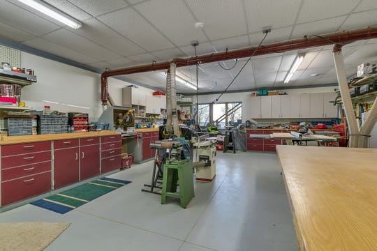 The home features an impressive workshop.