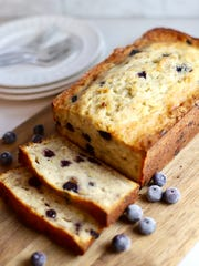 Easy Buttermilk Banana Bread with Blueberries is bursting with flavor.