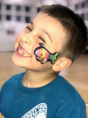 Cheek Art Ideas offered free face-painting to children at the 2019 Family Fun Day at Indian River State College in Fort Pierce.