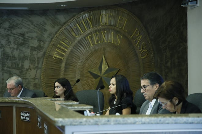 The El Paso City Council is shown during a regular meeting July 23, 2019.