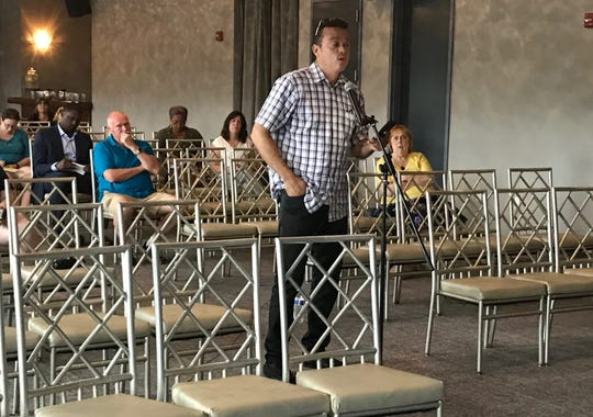 Hillcrest resident Hiram Rivera spoke to the Thruway Authority Toll Advisory Panel on July 18 at Time Hotel Nyack about the tolls on the Gov. Mario M. Cuomo Bridge traversing the Hudson River between Rockland and Westchester counties.
