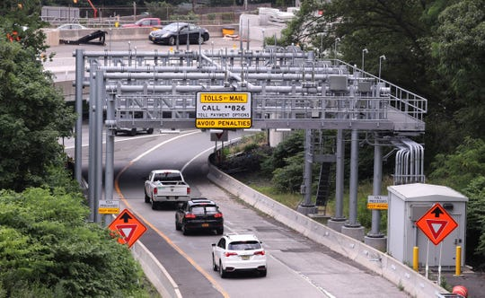 The toll gantry on the exit 10 entry to the Gov. Mario Cuomo Bridge in South Nyack July 11, 2019.