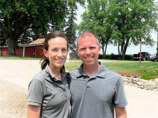 Maria and Nick Woldt, were event hosts on their dairy farm.