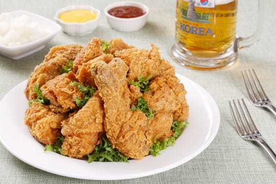 There are over 45,000 fried chicken eateries in South Korea. The classic dish is fried twice to maintain a light, crispy skin and tender center.