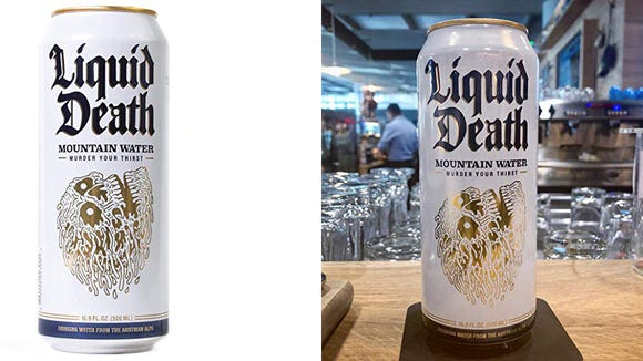 These recyclable cans of stone-cold mountain water came straight from the Alps and they're so good.