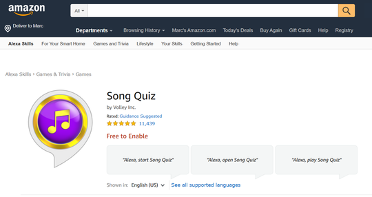 Song Quiz: Think you know music? Put your mouth where your mind is, with this free 'Name That Tune'-like party game for both Alexa and Google devices. Play solo or with friends.