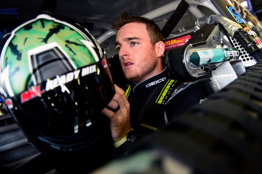 NASCAR drivers, including Ty Dillon, shown here, battled an extreme heat wave in New Hampshire that sent temperatures inside their cars soaring.