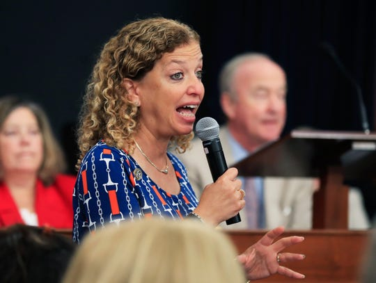 Rep. Debbie Wasserman Schultz, D-Fla., is the first Jewish woman to represent Florida in the Unites States Congress.