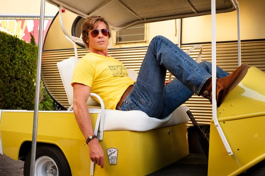 "Cliff Booth (Brad Pitt) is a cool customer in Quentin Tarantino's ""Once Upon A Time in Hollywood."""