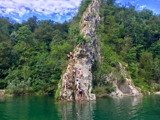 A secluded swimming hole in Friuli-Venezia Giulia.