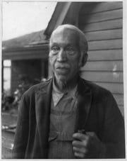 Martin Luther Bost (recorded by WPA as W.L. Bost), age 87.  Photo from Library of Congress.