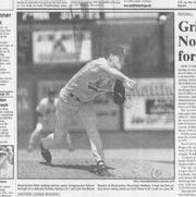 Right-hander Jason Isringhausen in his first Double-A victory in July 1994.