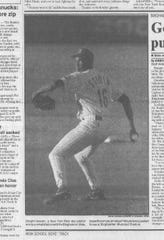 Dwight Gooden in his only appearance for the Binghamton Mets on June 3, 1994.