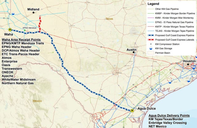One trans-Texas gas pipeline in schedule, another faces challenges