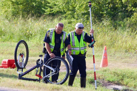 A bicyclist was killed Tuesday night when he was struck by a vehicle in Calallen.