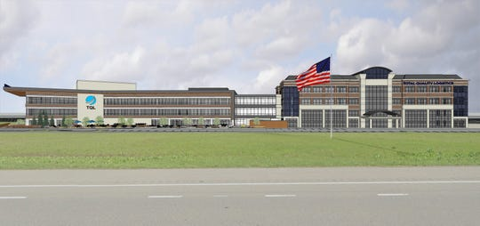 Conceptual drawing of the expanded Total Quality Logistics headquarters campus in Clermont County.