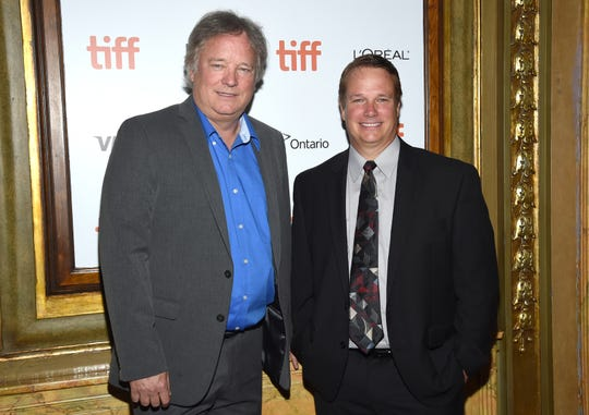 "Rick Armstrong, left, and Mark Armstrong attend the gala for ""First Man"" on day 5 of the Toronto International Film Festival at the Elgin Theatre on Monday, Sept. 10, 2018, in Toronto. (Photo by Evan Agostini/Invision/AP)"