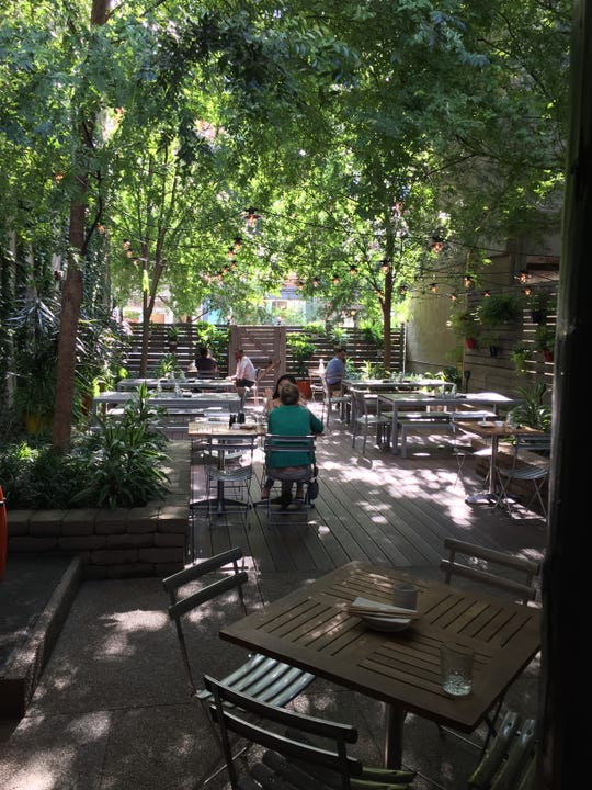 The beer garden at Kaze in Over-the-Rhine