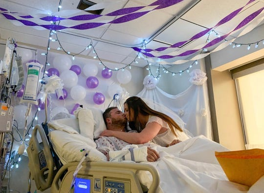 Chris and Ashley Mackay were married in the ICU.