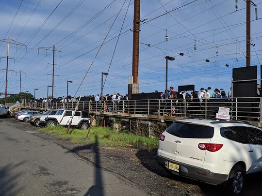 The incident occurred just after 7 a.m., with trains delayed up to an hour and 10 minutes.