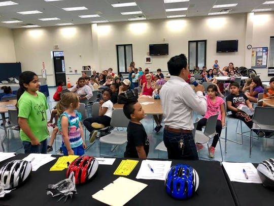 A free Community Bike Safety Workshop was held on Wednesday, July 10, at the Deverin Community Center in Carteret.