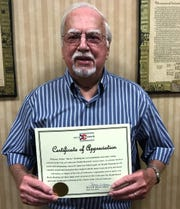 "Walter ""Rocky"" Roahrig received a certificate of appreciation for 16 years of service on the City of Coshocton Board of Health at the most recent meeting of Coshocton City Council."