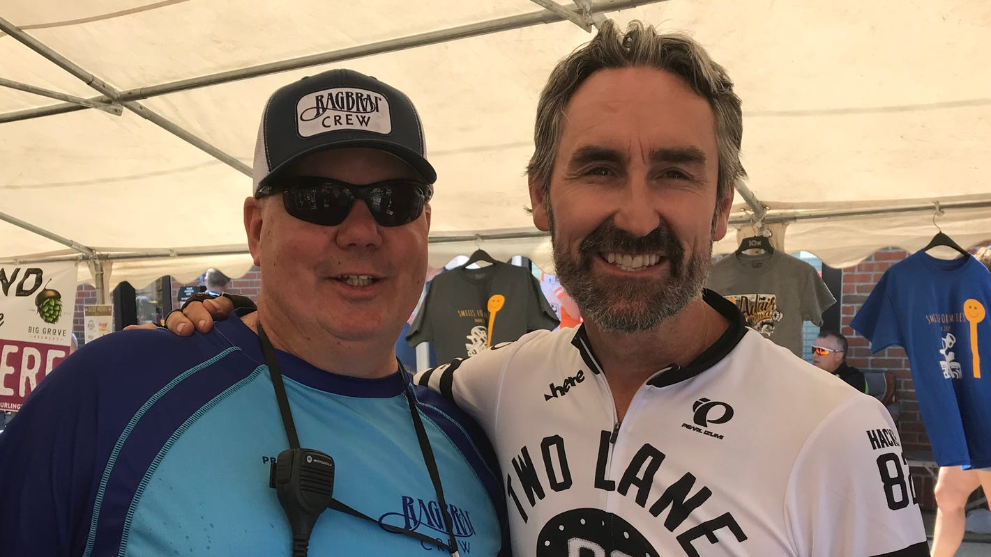 Mike Wolfe On Ragbrai American Picker Has Fun On The Route